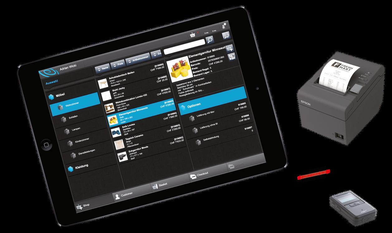 storepad: iPad mit Scanner und Bondrucker